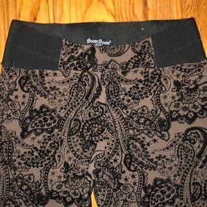 Black and tan print leggings